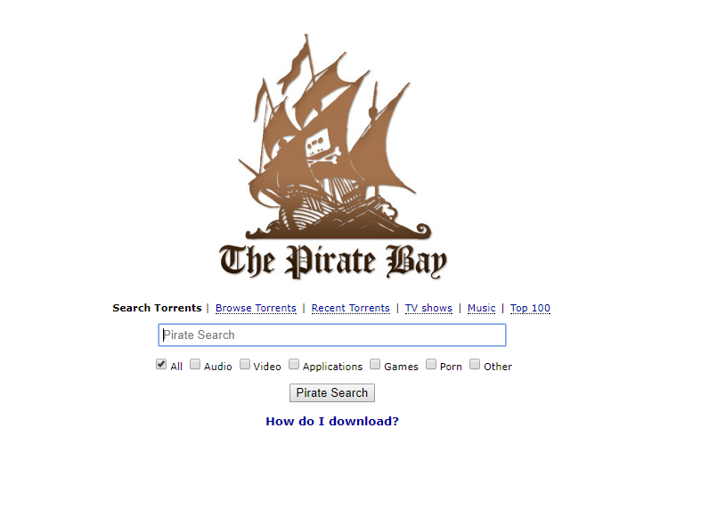 The Pirate bay torrent the best torrent sites in india