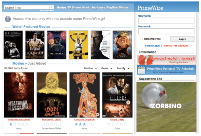 free movie websites to download