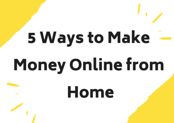 money online from home